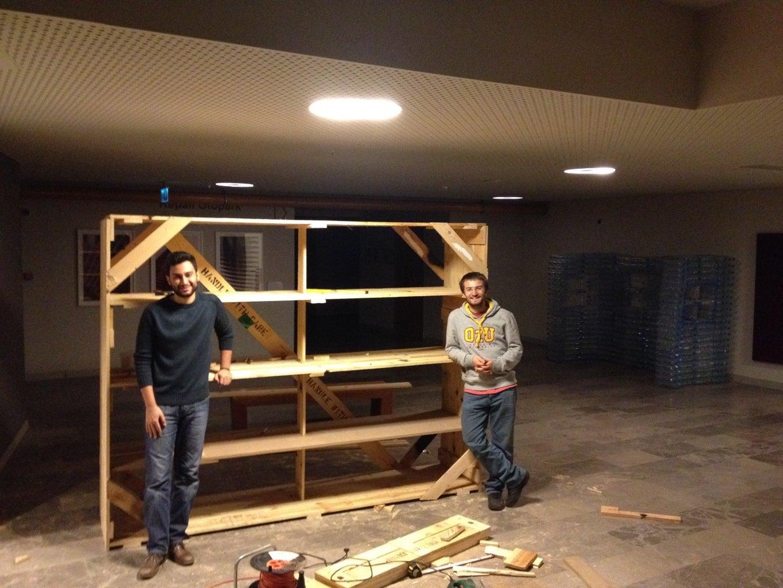 Huge Wooden Shelves