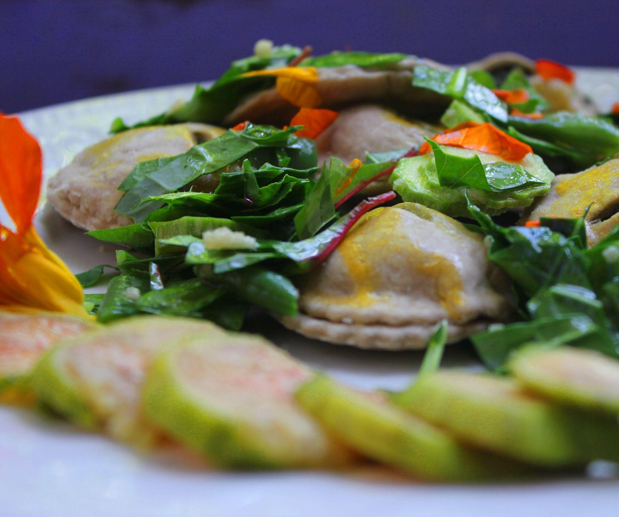 Oven-baked ravioli - Caciatelli or Casciatelli molisani - a variation of this delicious sweet or savoury dish. Organic recipe