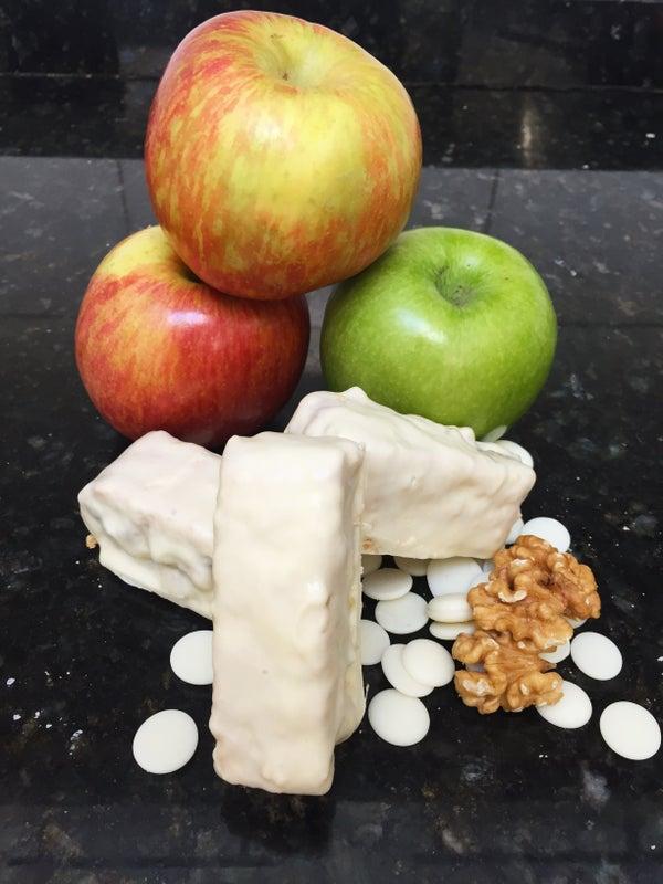 Nutty Caramel Apple Bars