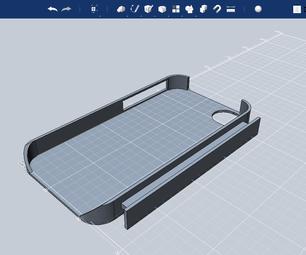 IPhone 4 Case With Earphone Winder in Autodesk 123D