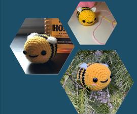 BEE Positive Crochet Bumblebee