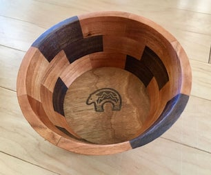 复杂的木镶嵌使超级简单