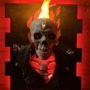 UV Flaming Ghost Rider Wall Bust