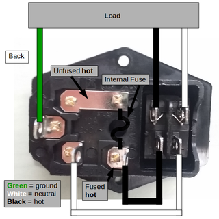 Wire Up a Fused AC Male Power Socket : 4 Steps (with Pictures) -  Instructables | Hvac Fuse Wiring Diagram |  | Instructables