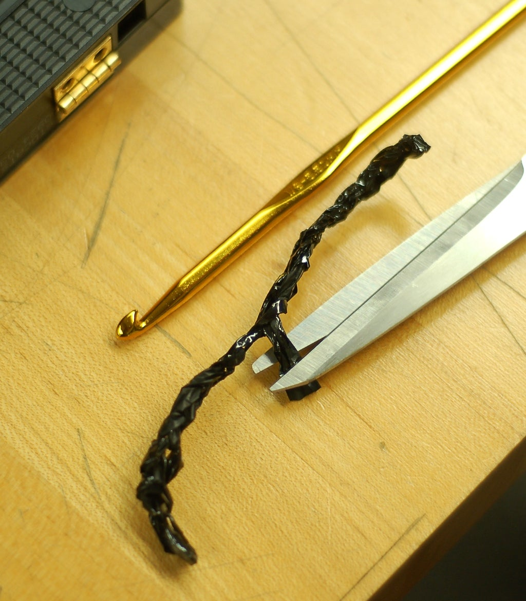 Crochet the Magnetic Tape Into Clasp and Hook