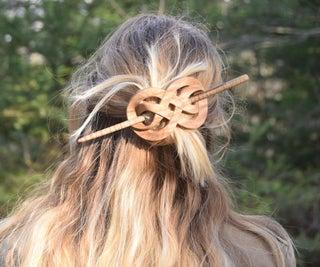 Interlocking Mobius Band Hair Clip