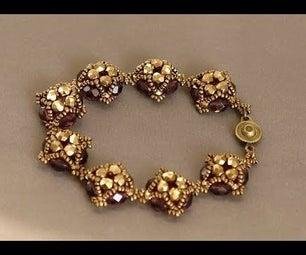 Beaded Bracelet - Handmade Bracelet With Bohemian Crystals and Miyuki Seed Beads