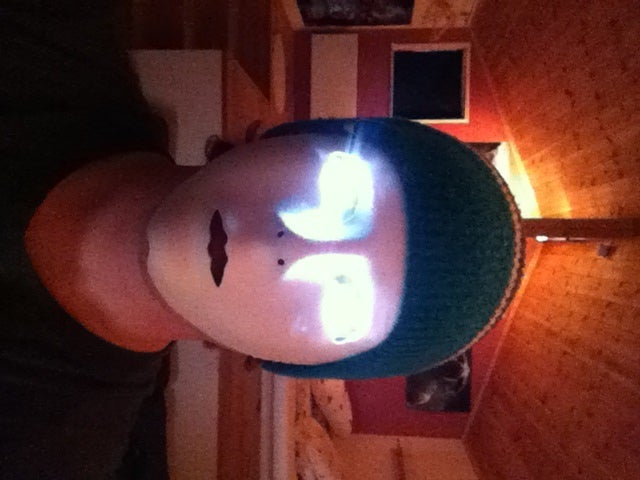 Mask With Glowing Eyes