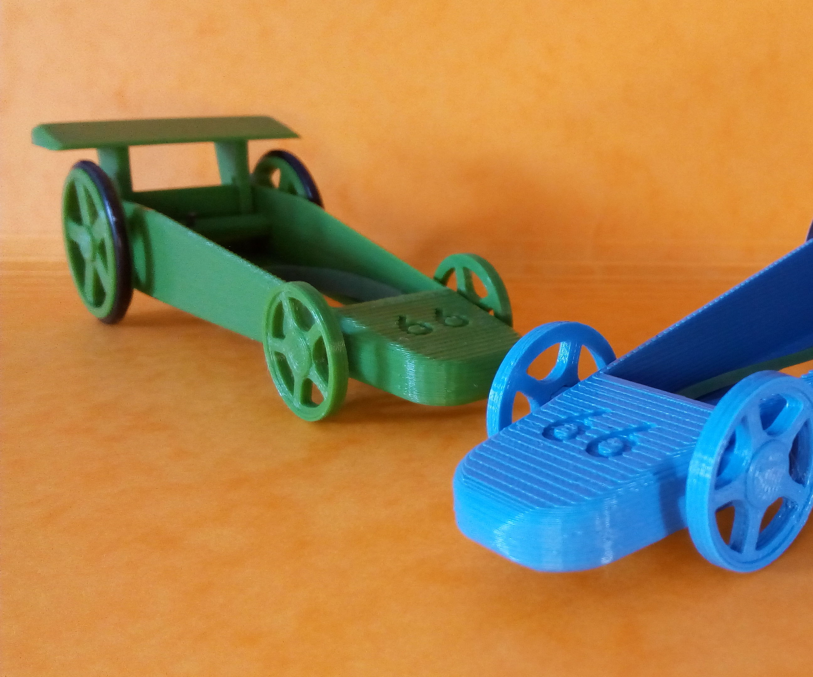 3D Printed Rubber Band Powered Car
