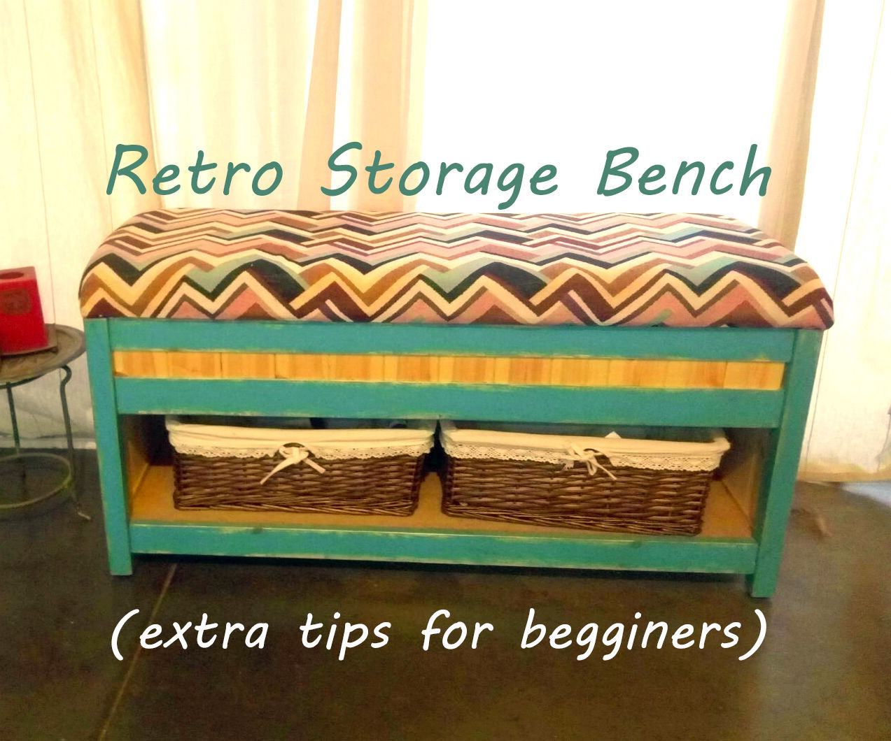 Retro Storage Bench (extra Tips for First Timers)