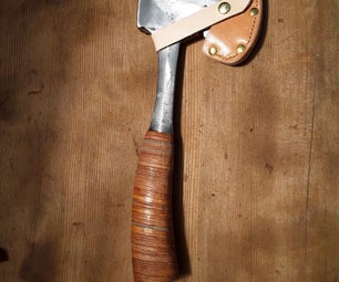 Stacked Leather Handle From Box of Scraps