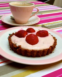 Gluten-free Lactose-free No-Bake Strawberry Tartlets