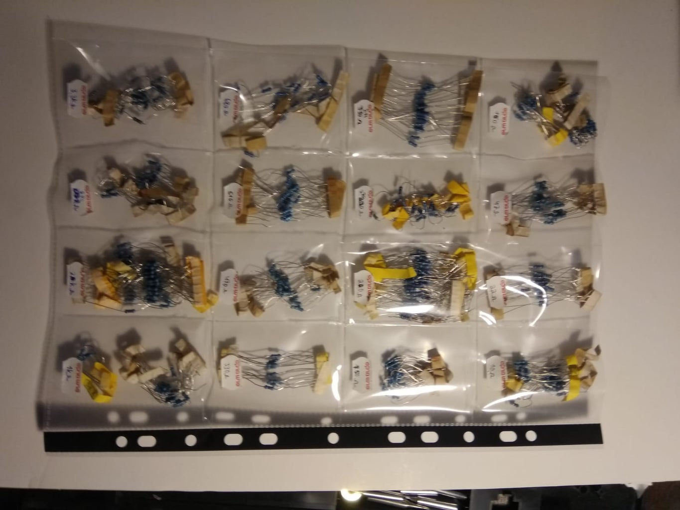 Custom Binder Sheet Organizer for Trading Cards or Small Parts