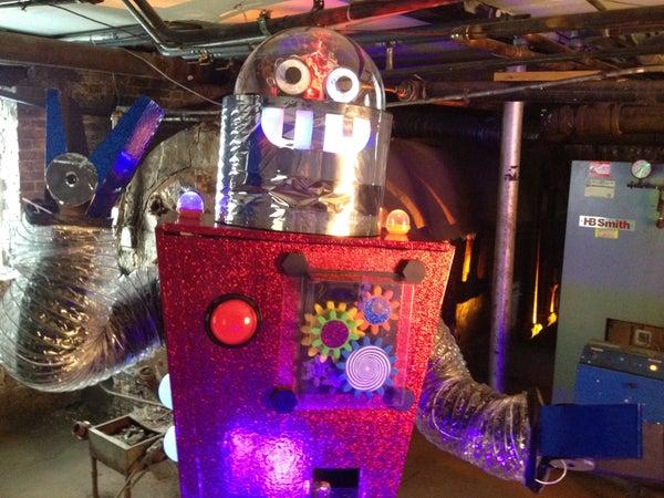 Interactive Vintage Robot Costume