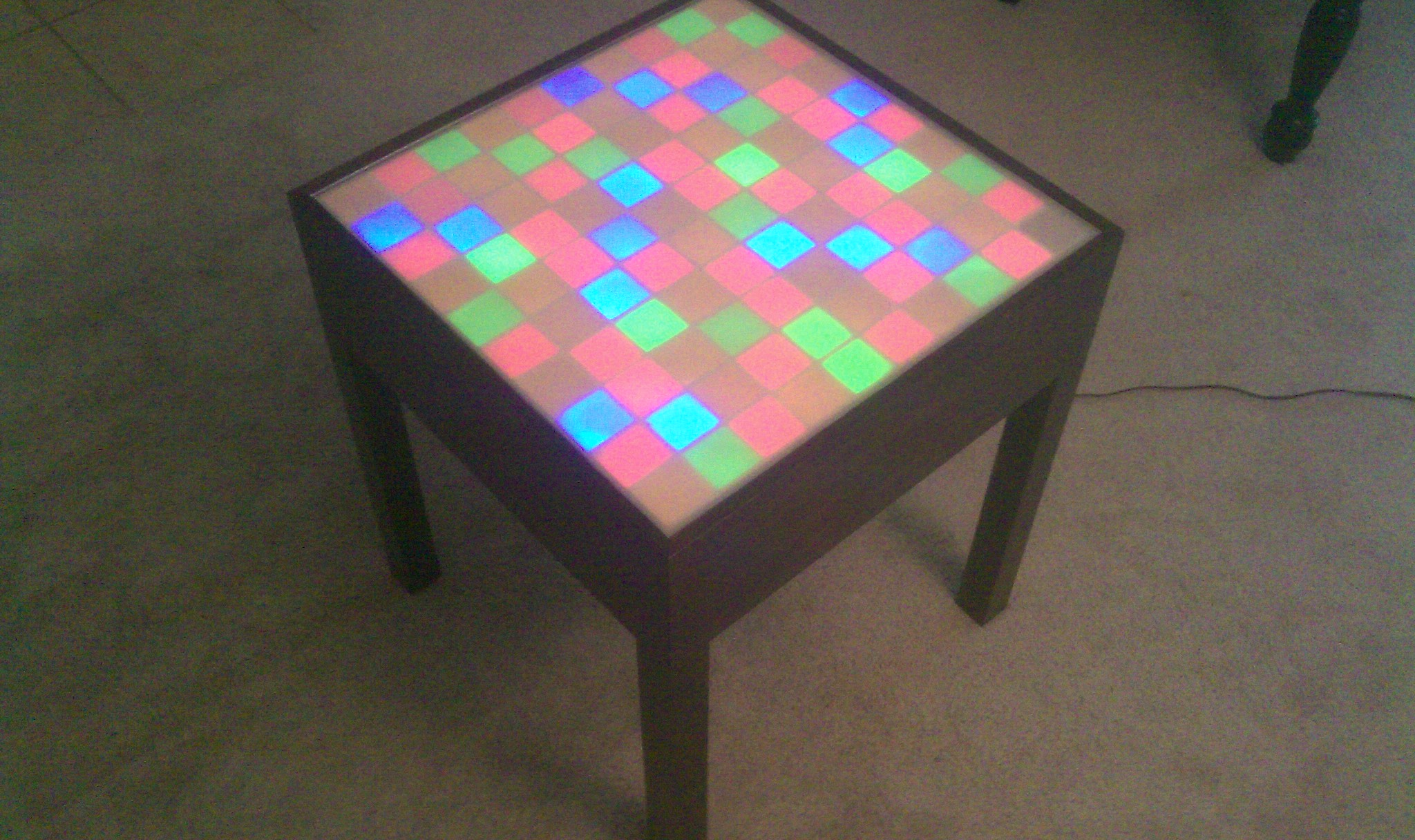 The easy light up, animated table. No electronics skills needed!