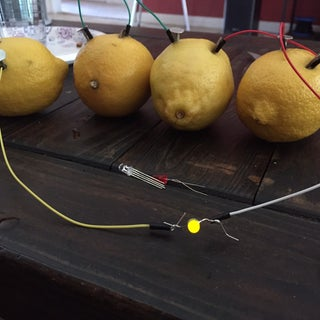 Lemon Batteries: Lighting an LED With Lemons