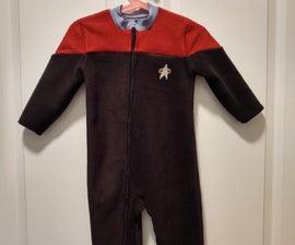 Toddler Star Trek Footie Pajamas
