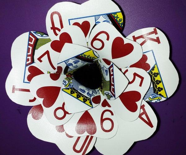 Poker Card Flower Hair Clip/Pin