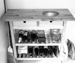 Kitchen Cart With Inset Bowl