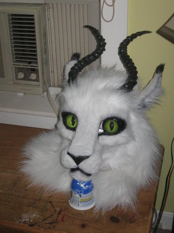 Making a Cat(?) Mask With Fiberglass