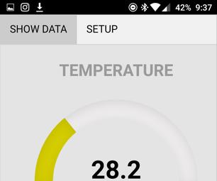 使用Cordova创建蓝牙移动应用程序(用于温度传感器)