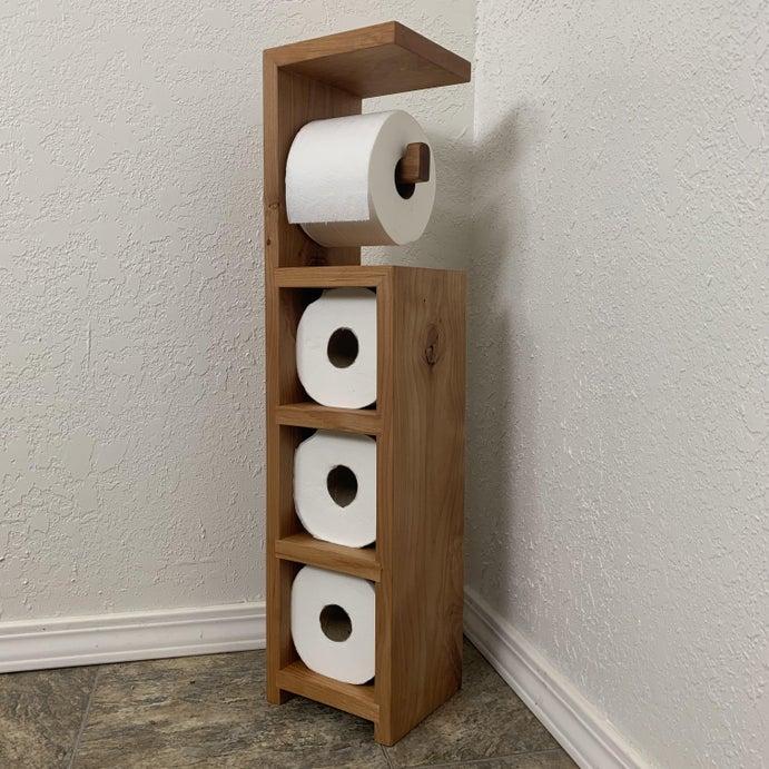 Scrap Wood Toilet Paper Holder!