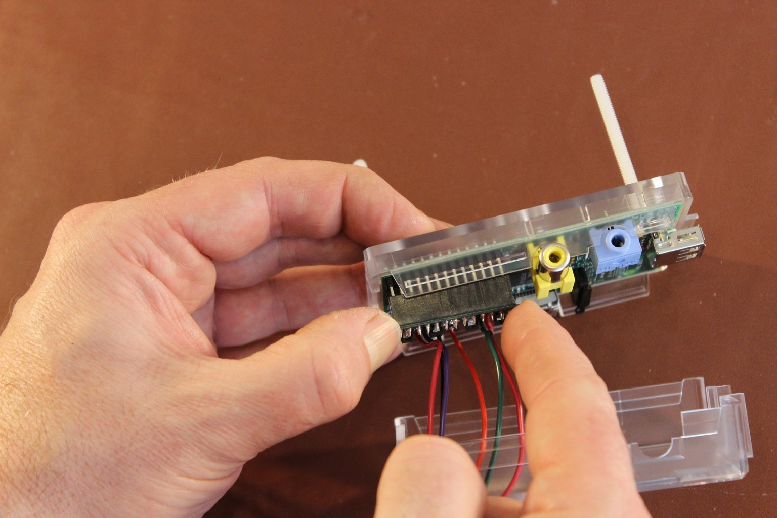 Attach the PicoBorg to the GPIO Pins