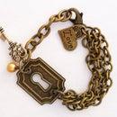 DIY Vintja Keyhole Charm Bracelet