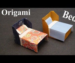 How to Make a Doll House Bed With Bedding Origami (Paper Craft) - TCGames [HD]!