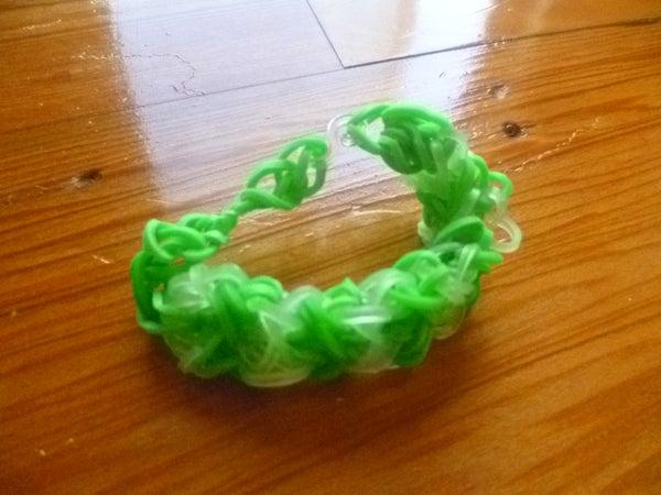 Very Pretty Criss-Cross Rainbow Loom Bracelet!!