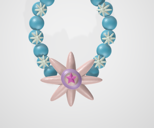 美丽的珠子镯子在tinkercad
