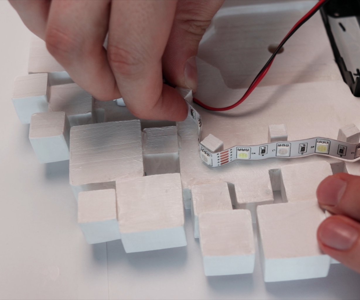 Led Strip Gluing and Finishing Lighting System