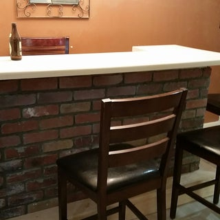 Home Bar With Reclaimed Bowling Alley Bar Top : 15 Steps ...