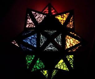 Rainbow Moravian Star Lamp