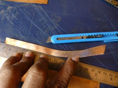 Cut Copper Foil Strips