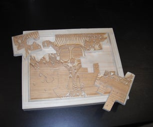 How I Made an Etched Jigsaw Puzzle With a Frame- I Made It at Techshop Detroit!
