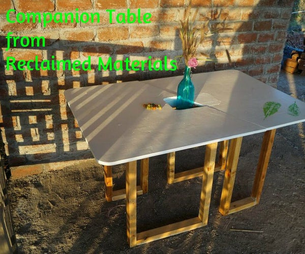 Companion Table From Reclaimed Material