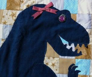 Blue Dino Quilt
