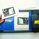 Credit Card Machine Lino Printing