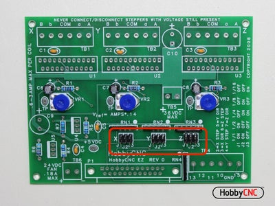 Install (3) 2 X 3 Pin Headers