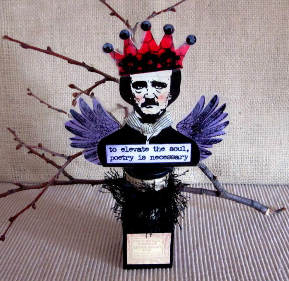 Edgar Allan Poe Mixed Media Assemblage