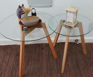 3D印刷中世纪现代侧桌