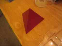 How to make a Tetrahedron Platonic Solid or a Four Sided D&D die (dice)