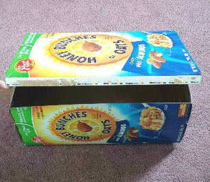 Cereal Boxes As Storage Boxes or Magazines Holder