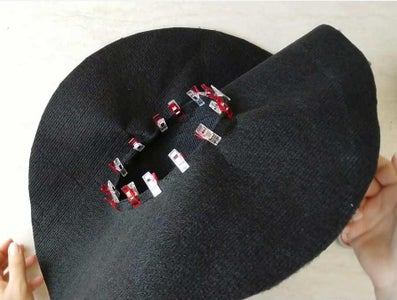 Sew Cone and Brim Together