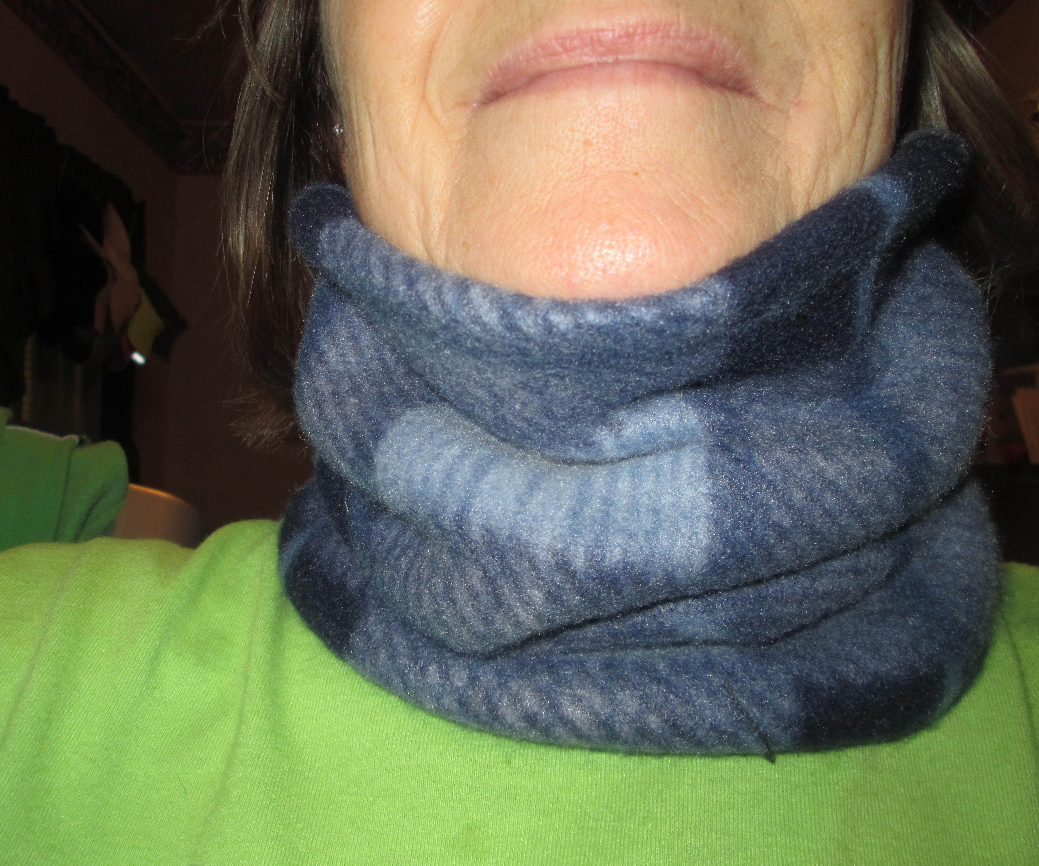 Homemade fleece neck gaiter