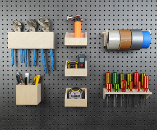 Pegboard Tools Organizer