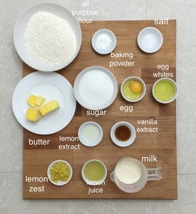 Prepare All Ingredients Needed to Make These Zingy Lemon Cupcakes.