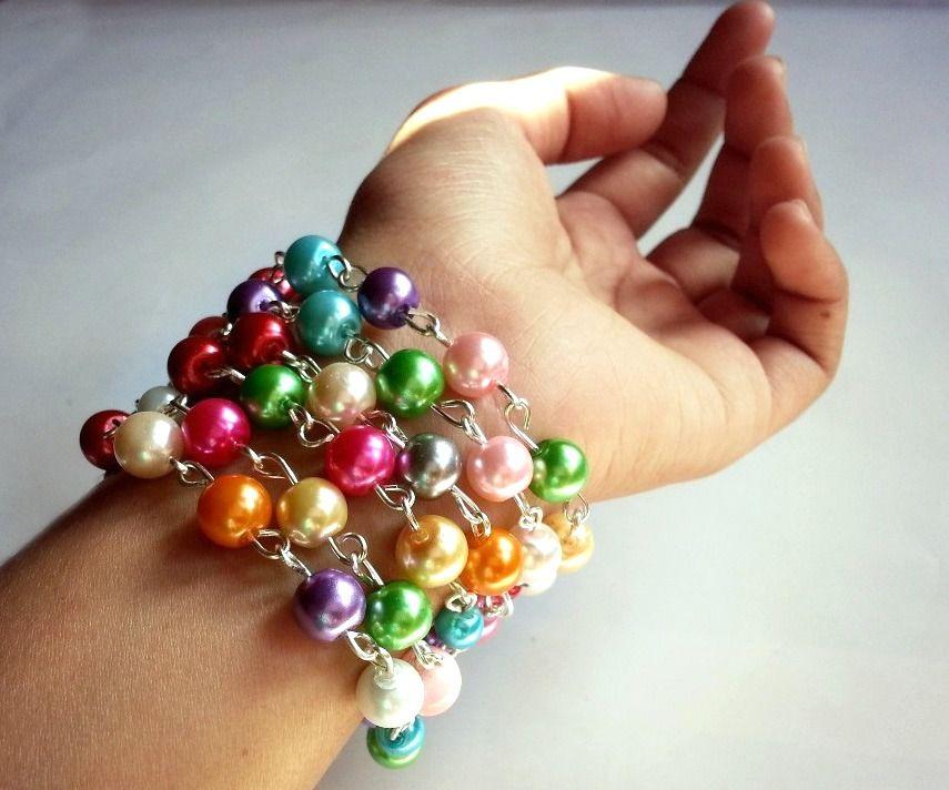 DIY Rosary Beaded Bracelet