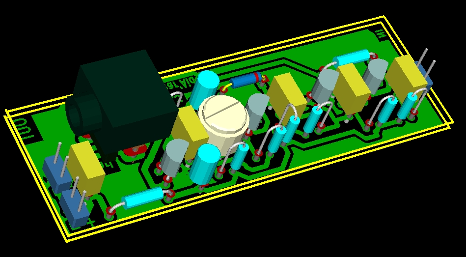 Hearing Aid amplifier four transistors (good quality and low cost)